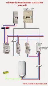 Contacteur Jour Nuit : schema electrique branchement cablage ~ Dallasstarsshop.com Idées de Décoration