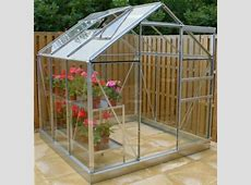 Aluminium Greenhouse 12 Grey, Base Included