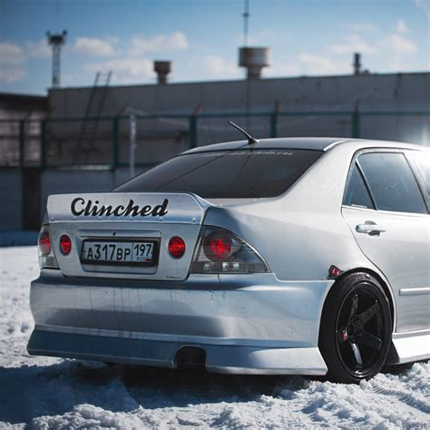 altezza lexus is300 lexus is300 ducktail spoiler by clinched flares also