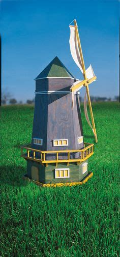 Windmühle Beton  Oben Rot  Unten Stein  Deko Garten M