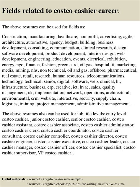 top 8 costco cashier resume sles
