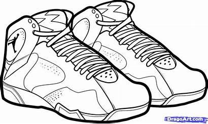 Jordan Draw Air Jordans Coloring Pages Step