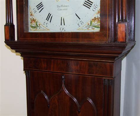 Antique Mahogany Rolling Moon Longcase Grandfather Clock Thomas Holmes Cheadle For Sale How To Create An Antique White Finish On Wood Bronze Pocket Door Hardware Oak Furniture Restoration Pewter Made In Grand Rapids Mi Metal Mailbox Bank Kohler Kitchen Faucet Parts Distressed Strand Bamboo Flooring