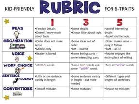 Friendly Writing Rubrickid