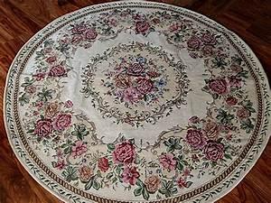 Vintage Teppich Rund : romantischer teppich rosen shabby chic vintage landhaus rund 120 cm ebay ~ Indierocktalk.com Haus und Dekorationen