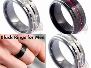 Trending black wedding rings for men by mad tungsten for Kevlar wedding ring