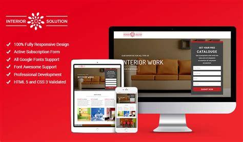 web design landing page best interior design landing page website template