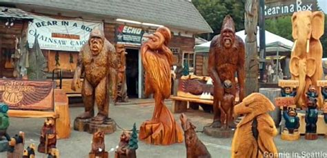 allyn wa largest collection  chainsaw carvings