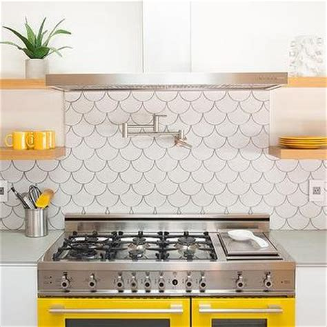yellow  gray backsplash tiles design ideas
