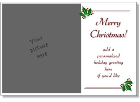christmas cards  print add   photo printable