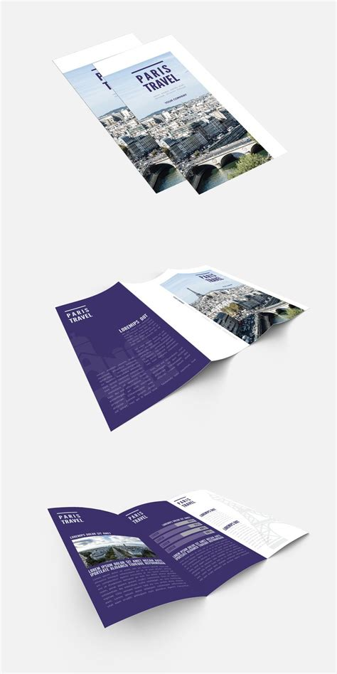 Trifold Brochure stock graphic design and motion graphic