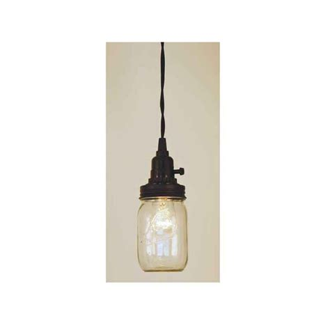 Rustic Mason Jar Pendant Lamp Kit
