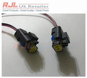 Fog Light Bulb Connectors With 30cm Wire Harness Fits Ford Focus St  Rs