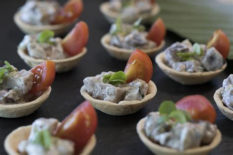 canapé aubergine corella foods canape functions
