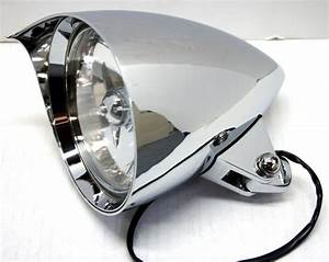 5 3  4 Stealth Chrome Headlight Pointed Visor