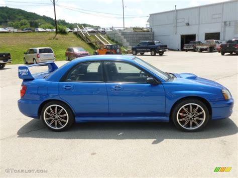 subaru wrx custom blue wr blue pearl 2005 subaru impreza wrx sedan exterior photo