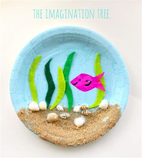 sea paper plate craft  imagination tree