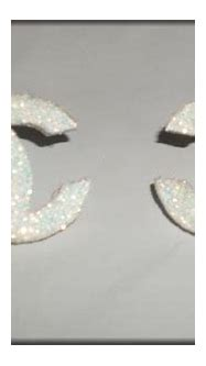 Glitter Chanel Logo Earrings from radicalrecycle on Etsy