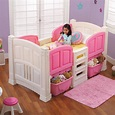 Step 2 Girl's Loft & Storage Twin Bed - Baby - Toddler Furniture - Toddler Beds