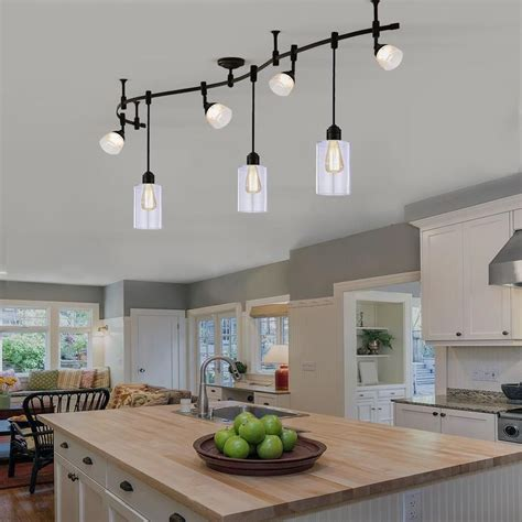 product image  flexible track lighting kitchen