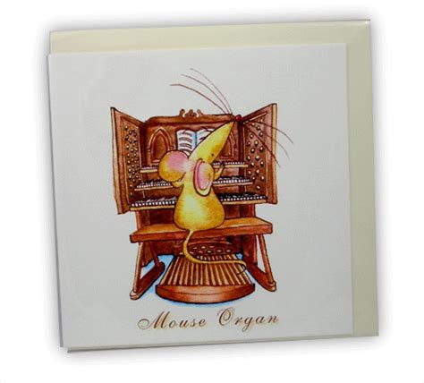 organ card mouse mice gifts musical cards