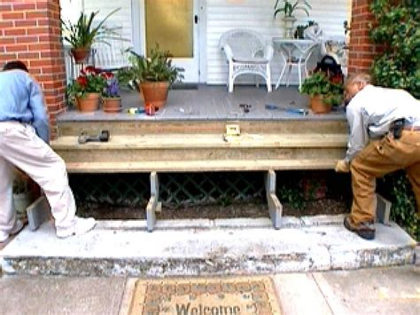 Wooden Porch Ideas by Replace Wooden Porch Steps Hgtv