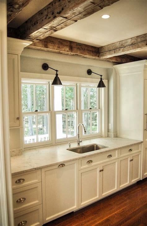 cottage kitchen furniture exposed wood beams cottage kitchen gulf shore design