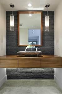 le lavabo en pierre en 61 photos et des astuces deco With materiau meuble salle de bain