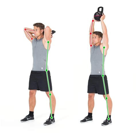overhead exercise double kettlebell triceps tricep arms ex trizeps training