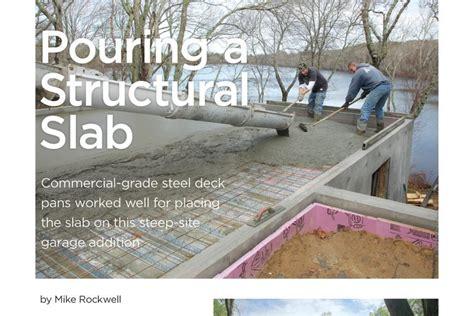 structural slab costs jlc  slab concrete