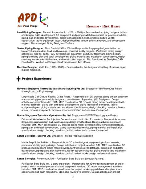 Piping Drafting Resume Exles by Piping Welding Supervisor Resume Format 2016 Car Release
