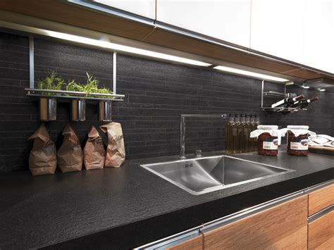 Thomasville Lamps by Charcoal Mosaic Kitchen Splashback Contemporary