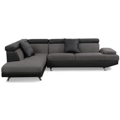 canape d angle noir pas cher canapé d 39 angle gauche pas cher