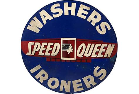 1930s Sign, Speed Queen On Onekingslane.com