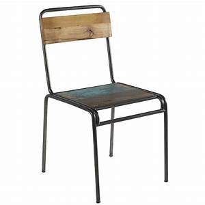 Chaise Bois Vintage : chaise vintage en bois de bateau recycl et m tal vieilli ~ Teatrodelosmanantiales.com Idées de Décoration
