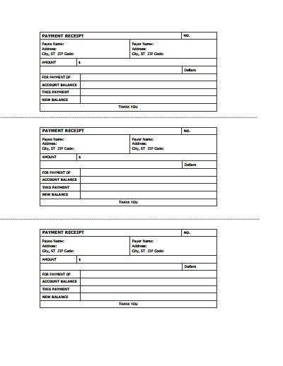 receipt template receipts free create edit fill and print wondershare pdfelement