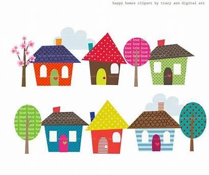 Clip Happy Homes Clipart