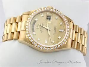 Rolex Uhr Herren Gold : rolex uhr day date gold 750 diamanten automatik brillanten herrenuhr daydate ~ Frokenaadalensverden.com Haus und Dekorationen