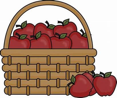 Basket Empty Clipart Picnic Clip Apple Apples