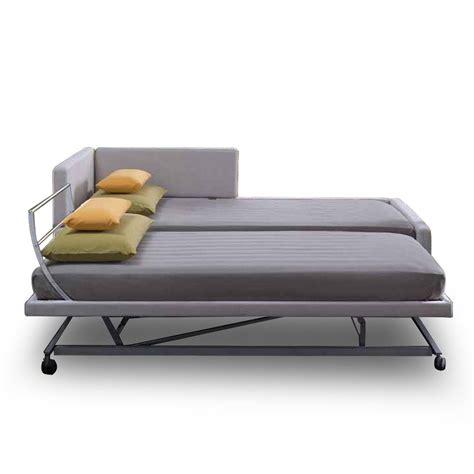 canapé lit convertible couchage quotidien lit gigogne solal meubles et atmosphère