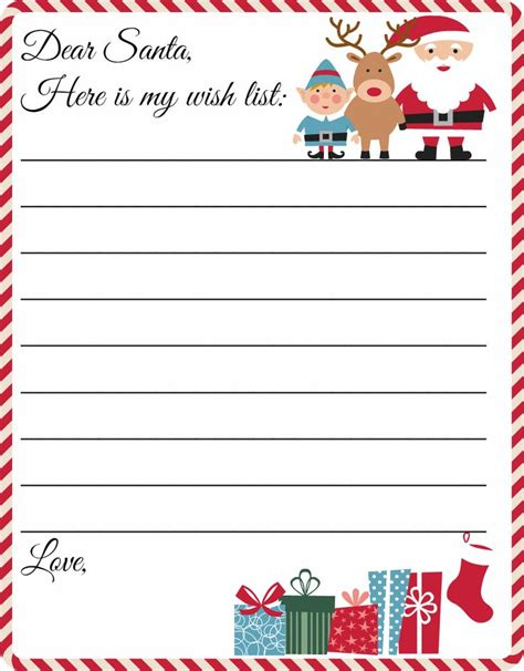 Letter To Santa Template Free Printable Letter To Santa Template Grab This