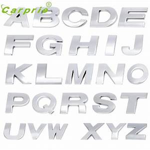 car styling a z 3d car decals car emblem letter metallic With metallic letter stickers