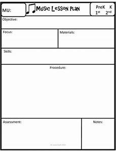 add this free music lesson plan template to your music With music class lesson plan template