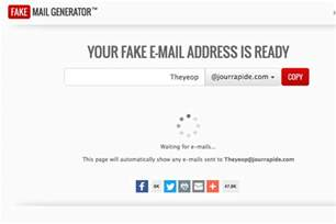 Fake Address Generator Email