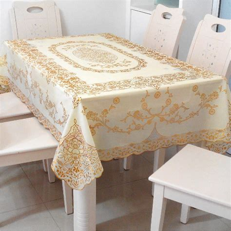nouveau pvc table tissu imperm 233 able jetable en plastique nappe dentelle nappe europ 233 enne pvc