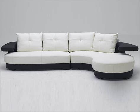black  white ultra modern full leather sectional sofa