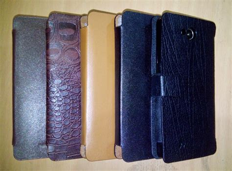 leather case sarung hp flip case flip cover cross