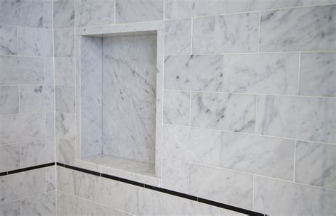 Carrara Marble Tile Bathroom by Master Bathroom In Carrara Marble Complete Tile