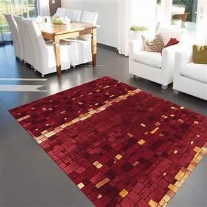 Tapis Salon Design : tapis design premium mosaic rouge par arte espina ~ Teatrodelosmanantiales.com Idées de Décoration