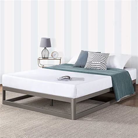 mellow full  metal platform bed frame wheavy duty